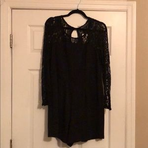 Forever 21 Black Lace Romper- Size 2X (NWT)